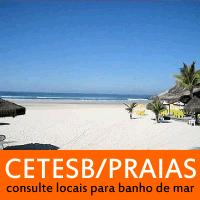 Consulta de qualidade da água do mar para banho nas principais praias do litoral paulista